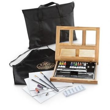 ARTISTS 27PC ACRYLIC EASEL ART SET WITH EASY TO STORE BAG BY ROYAL & LANGNICKEL